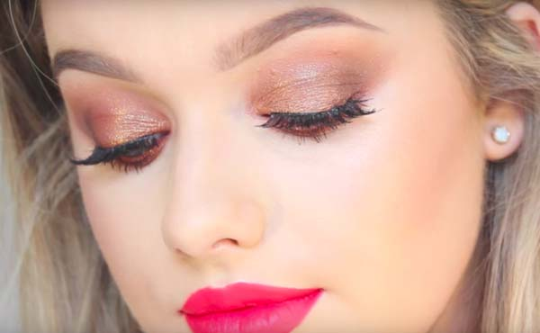 best eyes makeup with mink lashes